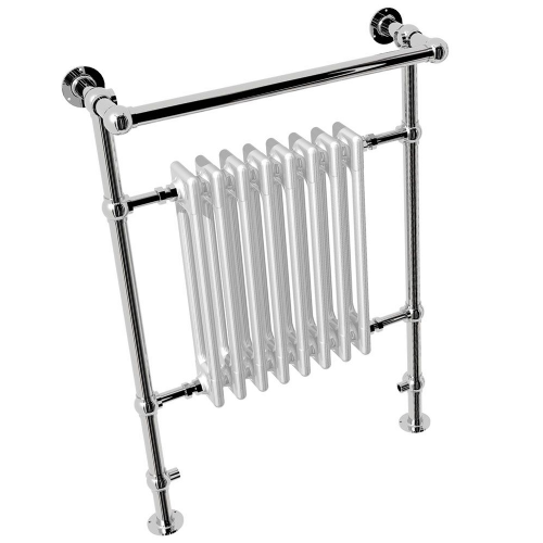 Abacus Elegance Half Sorereign Traditional Towel Rail - 940mm x 674mm - Chrome